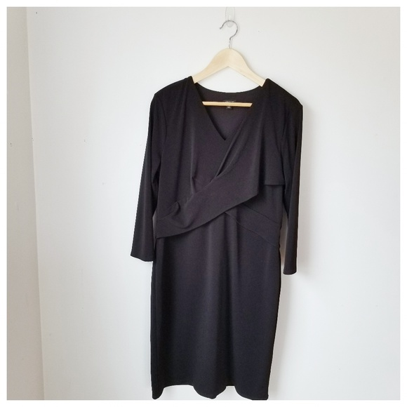 Ann Taylor Black Wrap Dress Plus SIZE 14
